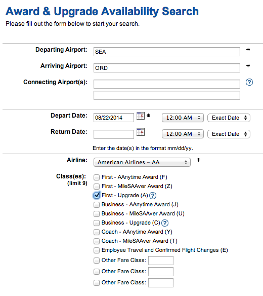 AA upgrade search