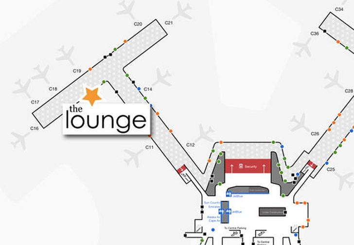The Lounge at BOS - map