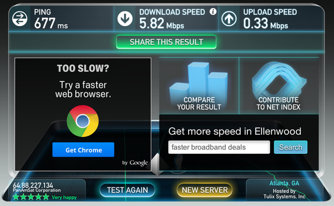 The Results after Testing United Wi-Fi on Four Different Flights