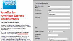 Free Club Carlson Gold Elite Status from American Express