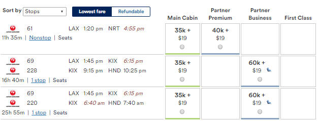 Award Price Using Alaska Airlines Mileage Plan Usa An