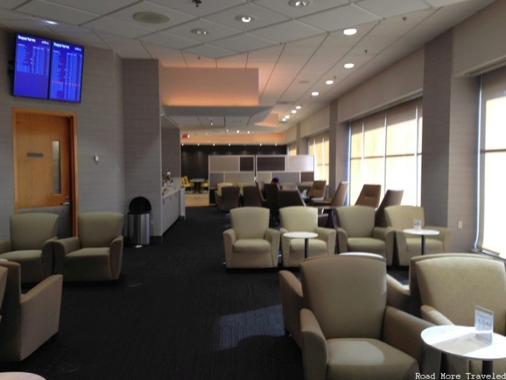 The Lounge at BOS - departures board