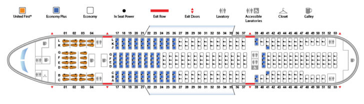 United Seat Map Sitting in United's New Economy Class Is Surprisingly Tolerable