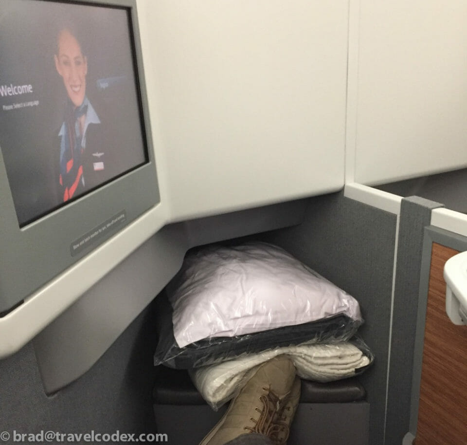 American Airlines Business Class Seat on the 77W