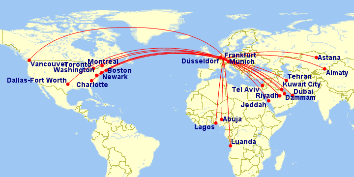 Lufthansa Route Map The Hub: Routes, Terminal Maps and Fleet for Lufthansa   Travel Codex