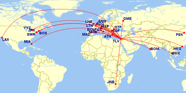 El Al Israel Airlines Route Maps and Fleet
