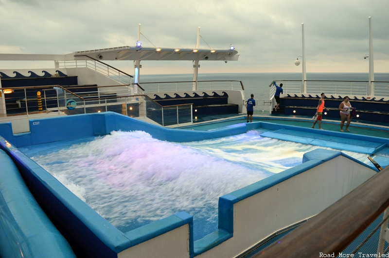 "Royal Caribbean Liberty of the Seas - ""Flowrider"" surfing simulator"