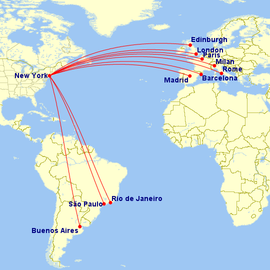 American Airlines Will Use These Aircraft For Each Route In 2018 - Us-airline-hubs-map
