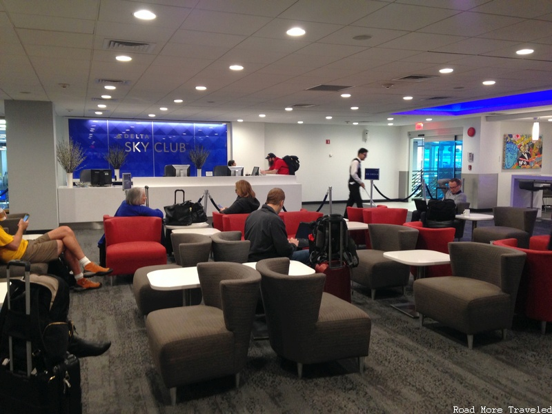 Delta SkyClub JFK Terminal 2 - seating area
