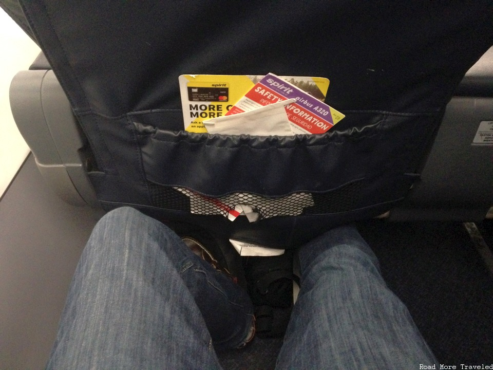 Spirit Airlines Big Front Seat - legroom