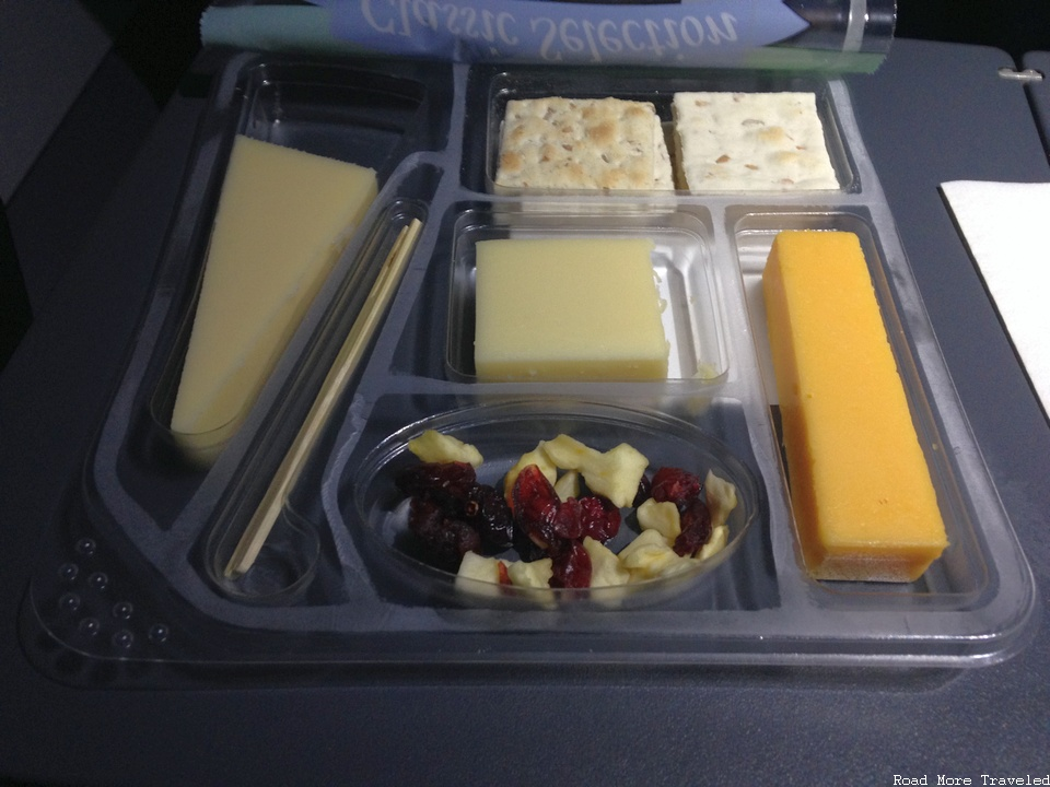 Spirit Airlines cheese plate