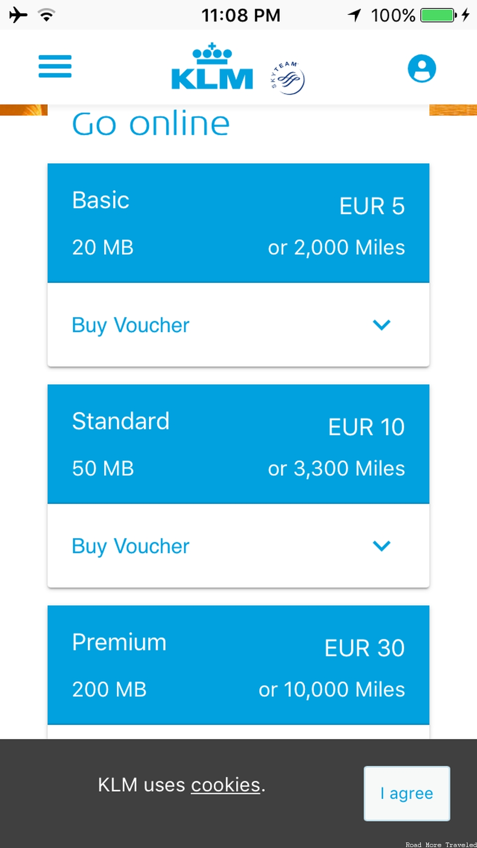 KLM 787-9 Economy Comfort - WiFi prices