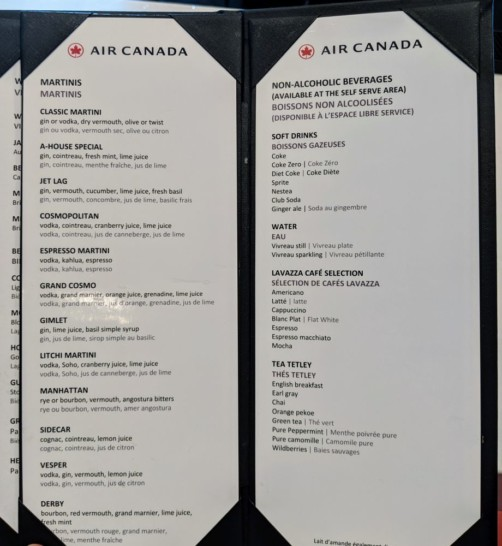 Maple Leaf Bar Menu